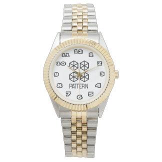Pattern Women's Two-Tone Bracelet Watch