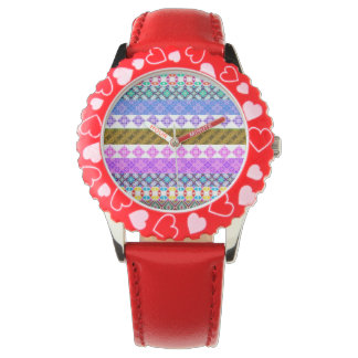 pattern wristwatch