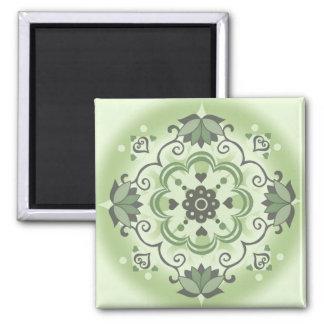 PatternDesign1 Green Magnet