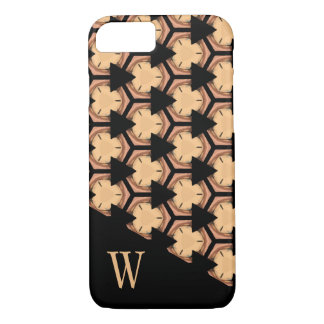Patterned and Monogrammed in Warm-Tones iPhone 7 Case
