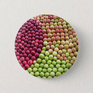 Patterned Apples 6 Cm Round Badge