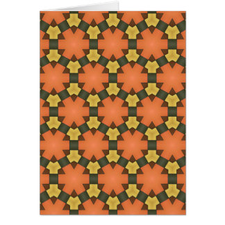 Patterned card. card