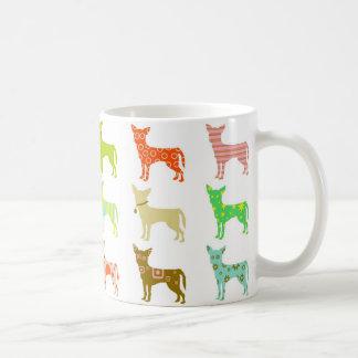 patterned-chihuahuas basic white mug