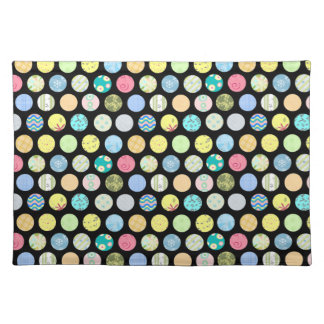 Patterned Color Dots - Dark Placemat