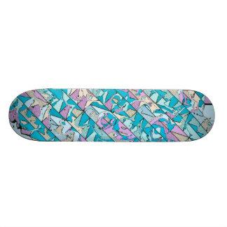 patterned diagonally skate board