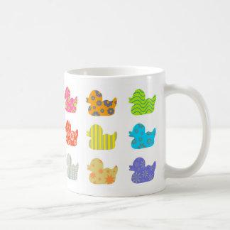Patterned Ducks Mugs