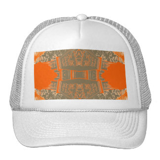 Patterned Elegance Beautiful Autumn Orange Art Cap