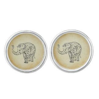 Patterned Elephant Cufflinks