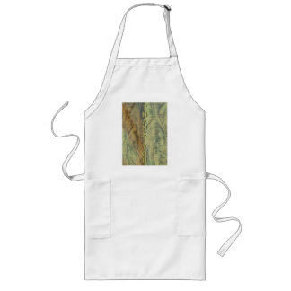Patterned Fabric Thank You Long Apron