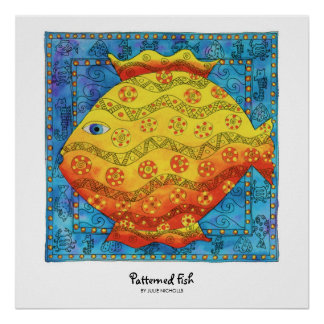 Patterned Fish Poster