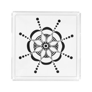 Patterned Floral Acrylic Tray