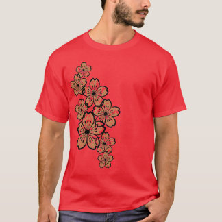 Patterned Flowers (dark) T-Shirt