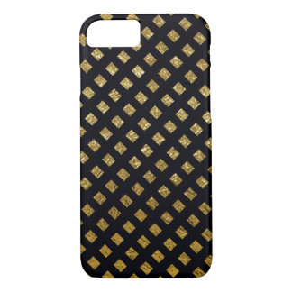 patterned gold-color on black iPhone 8/7 case