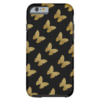 patterned golden-color butterfly tough iPhone 6 case
