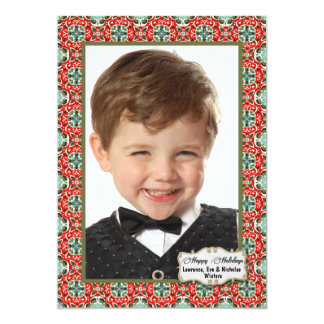 Patterned Holiday Photo Card 13 Cm X 18 Cm Invitation Card
