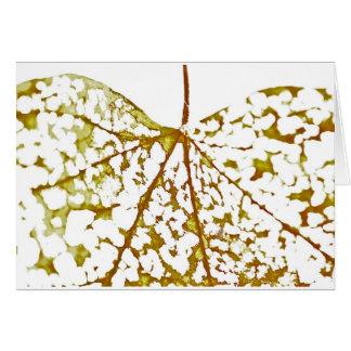 Patterned Leaf 1 Greeting Card