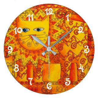 Patterned Lion Large Clock