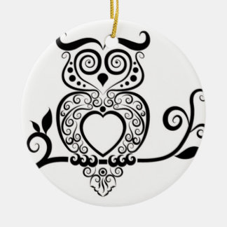 Patterned Owl Christmas Tree Ornament