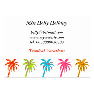 Patterned Palm Trees, Miss Holly Holiday, Large Business Cards (Pack Of 100)