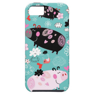 Patterned Piggies Tough iPhone 5 Case
