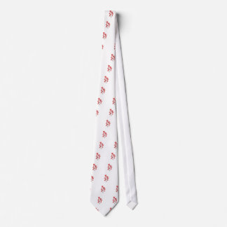 Patterned Poppies Tie
