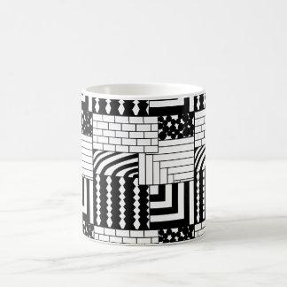 Patterned Rectangles Coffee Mug