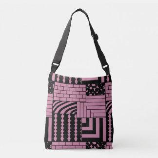 Patterned Rectangles Crossbody Bag