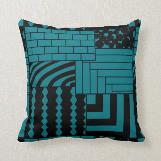Patterned Rectangles Cushion