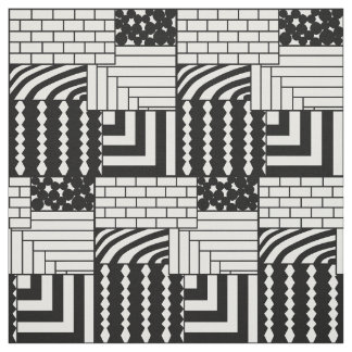 Patterned Rectangles Fabric