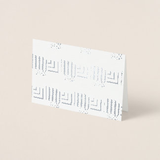 Patterned Rectangles Foil Card
