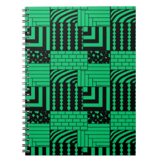 Patterned Rectangles Notebooks