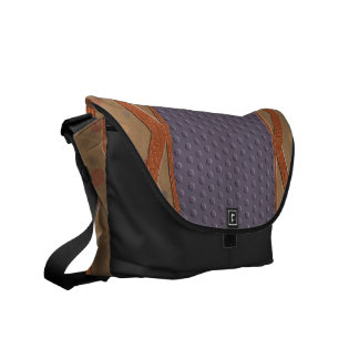 Patterned Rick Rack Rickshaw Messenger Bag