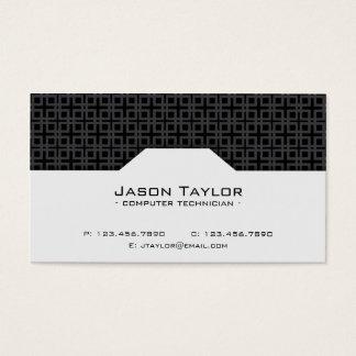 Patterned Split - Black Business Card