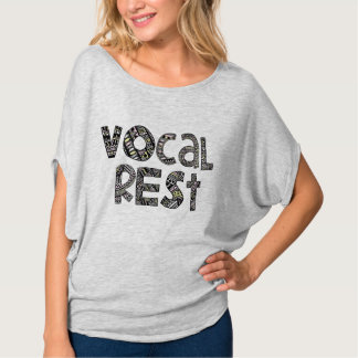 Patterned Words Vocal Rest Circle Shirt