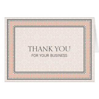 Patterns & Borders 1 Thank You For Your Business Card