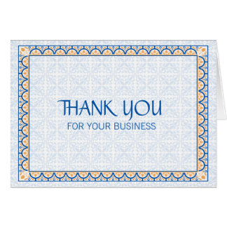Patterns & Borders 2 Thank You For Your Business Card