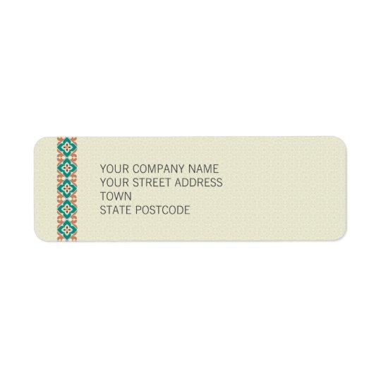 Patterns & Borders 3 Return Address Label