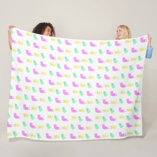 Patterns Bunny Fleece Blanket