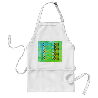 Patterns InBlue And Green Standard Apron