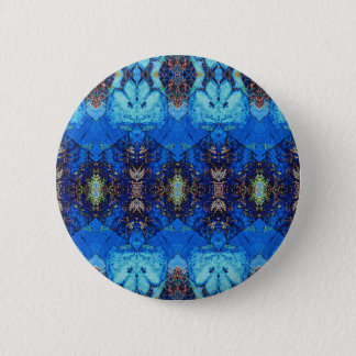 Patterns of Blue and Gold 6 Cm Round Badge