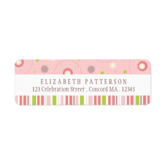 Patterns of Fun in Pink Return Address Label