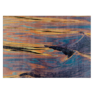 Patterns of Reflected Sunset in Boat Wake Cutting Board