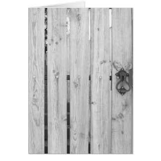Patterns & Textures Greeting Cards - Wooden Door