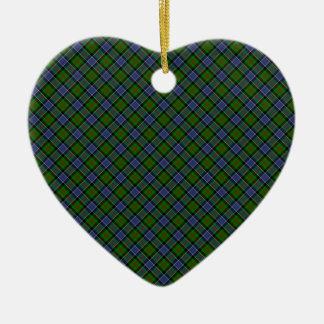 Patterson Clan Tartan Designed Print Ceramic Heart Decoration