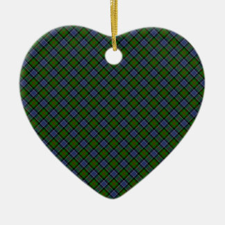 Patterson Clan Tartan Designed Print Ceramic Ornament
