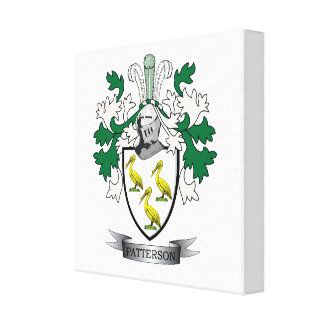 Patterson Family Crest Coat of Arms Canvas Print