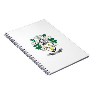 Patterson Family Crest Coat of Arms Spiral Notebook