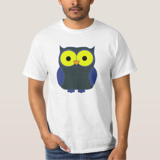 Patterson Tartan Plaid Owl T-Shirt