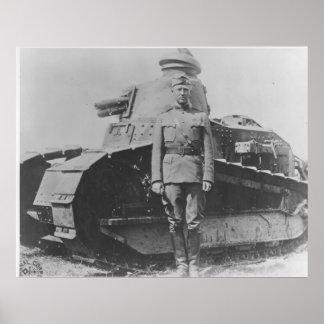 Patton the Tank Commander Poster