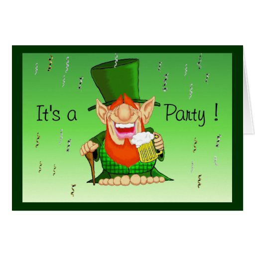 Patty O'Party Invitations Greeting Cards